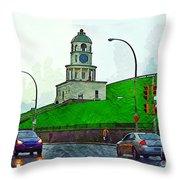 Halifax Historic Town Clock Throw Pillow