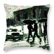 Halifax In The Rain One Throw Pillow