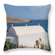 Halki Chapel Throw Pillow