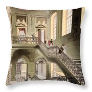 Hall And Staircase At The British Throw Pillow