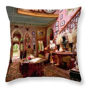 Hall And Staircase Of A Country House Throw Pillow