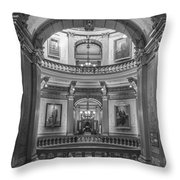 Hall In Michigan State Capital Throw Pillow