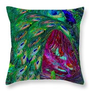 Hall Of Fairies Feather Dance Throw Pillow