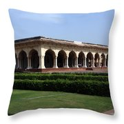 Hall Of Public Audience - Red Fort - Agra Throw Pillow