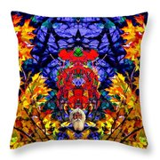 Hall Of The Color King Throw Pillow