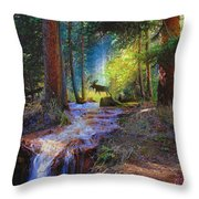 Hall Valley Moose Throw Pillow
