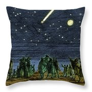 Halleys Comet 1682 Throw Pillow