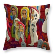 Halloween A Big Booo To You Throw Pillow