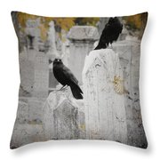 Halloween Is In The Autumn Air Throw Pillow