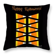 Halloween Candy Corn Throw Pillow