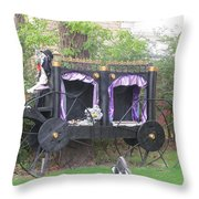Halloween Carriage Throw Pillow