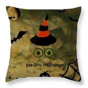Halloween Eyes Throw Pillow