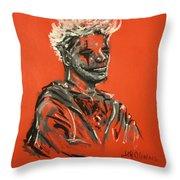 Halloween Figure Throw Pillow