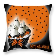 Halloween Ghost Cupcake 2 Throw Pillow