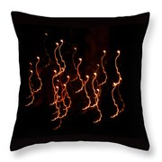 Halloween Light Creatures Throw Pillow