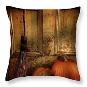 Halloween Night Throw Pillow by Sandra Cunningham