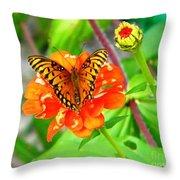 Halloween Orange Throw Pillow