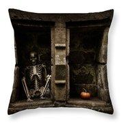 Halloween Skeleton Throw Pillow