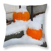 Halloween Snow Throw Pillow