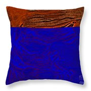 Halloween Specter Orange Throw Pillow