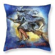 Halloween Too Cute To Spook Throw Pillow