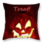 Halloween Trick Or Treat Throw Pillow