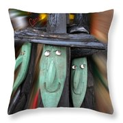 Halloween Witch Way Is The Candy Throw Pillow