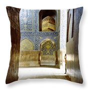 Hallway At Sheik-lotfollah Mosque Throw Pillow
