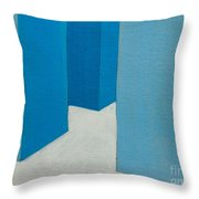 Hallway Blue Throw Pillow