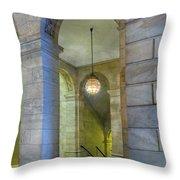Hallway New York Public Library Throw Pillow