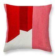 Hallway Red Throw Pillow