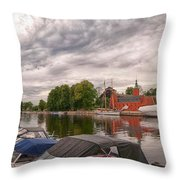 Halmstad Castle 01 Throw Pillow