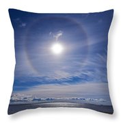 Halo Over  The Sea Throw Pillow
