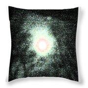 Haloed Moon Throw Pillow