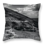 Halona Blowhole Lookout- Oahu Hawaii Throw Pillow