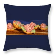 Ham Roses Tartletts Throw Pillow