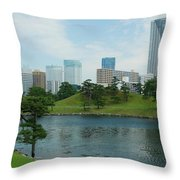Hama Rikyu Japanese Garden Throw Pillow