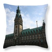 Hamburg - City Hall - Germany Throw Pillow