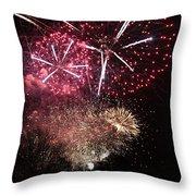 10715 Hamburg Winter Dom Fireworks Throw Pillow