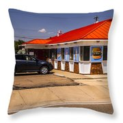 Hamburgers And Ice Cream Throw Pillow