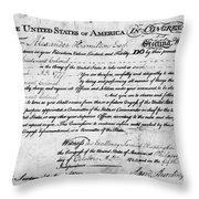 Hamilton: Appointment, 1777 Throw Pillow