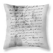 Hamilton: Letter, 1777 Throw Pillow