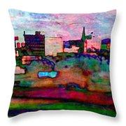 Hamilton Ohio City Art 10 Throw Pillow