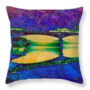Hamilton Ohio City Art 6 Throw Pillow