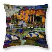 Hamilton Ohio City Art 7 Throw Pillow