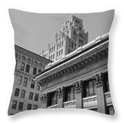 Hamilton Ontario Architecture  Main And James Throw Pillow