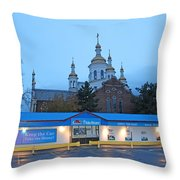 Hamilton Orthodox Church Throw Pillow