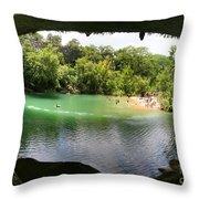 Hamilton Pool Cave Throw Pillow