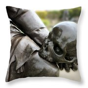 Hamlet Contemplating The Skull  Throw Pillow by Terri Waters