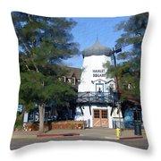 Hamlet Square Solvang California Throw Pillow